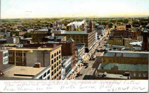 New York Rochester Birds Eye View Looking East From St Paul & Main Street 1908