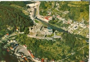 Luxembourg, Vianden, Vue aerienne avec Chateau, 1963 used