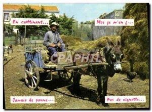 Modern Postcard Donkey hitch Folklore