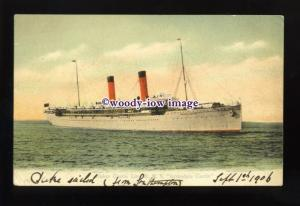 LS1380 - Union Castle Liner - Armadale Castle - postcard