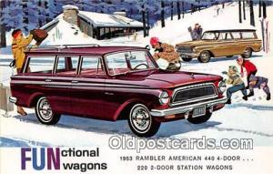 Postcard Post Card 1963 Rambler American 440 4 Door Station Wagon