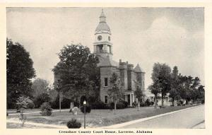 Luverne Alabama Court House Vintage Postcard JE229812