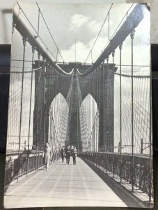 United States Brooklyn Bridge Promenade by Andreas Feininger in 1940 posted 1986