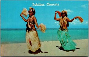 1960s Honolulu, Hawaii Postcard Tahitian Dancers - KODAK HULA SHOW Unused