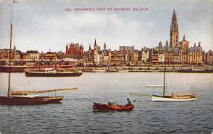 Panoramic View of Antwerp, Belgium, Early Postcard, Unused