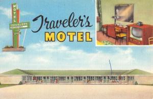travelers motel corning arkansas L4447 antique postcard