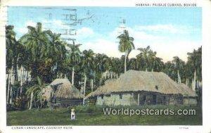Paisaje Cubano, Bohios Habana Cuba, Republica De Cuba 1940