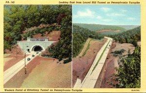 Pennsylvania Turnpike Western Portal Of Kittatinny Tunnel & Looking East From...