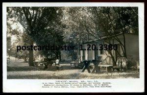 3380 - LANORAIE Quebec 1950 Chez- Nous Cabins. Real Photo Postcard