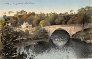 Scotland, UK Old Vintage Antique Post Card Brig O' Balgownie Aberdeen Un...
