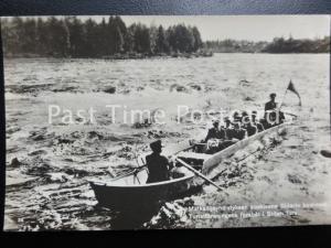 c1905 RPPC 'Finnish Boat Trip' Matkailijayhdistyksen Koskivene Siitarin Koskessa