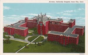 Iowa Iowa City Aerial View University Hospital 1950 Curteich
