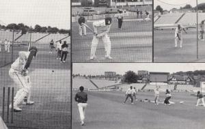 West India Cricket Team Practicing at Headingly Postcard