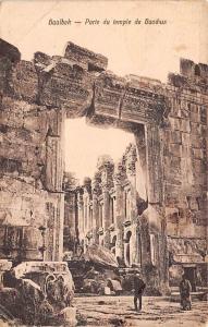 Lebanon Baalbek - Porte du temple de Bacchus 1922