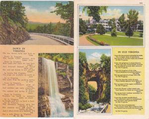 (2 cards) Poems - Down in Virginia - In Old Virginia - Linen