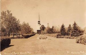 Grand Pre Nova Scotia Canada Memorial Park Real Photo Antique Postcard J52172