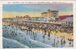 New Jersey Ocean City General View Of Beach At Flanders Hotel