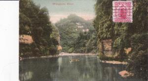 NEW ZEALAND, PU-1907; Wanganui River, canoe