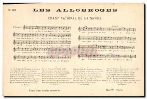 Old Postcard The Allobroges National Savoy Song