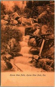 1900s ESTES PARK Colorado RMNP Postcard Horse Shoe Falls Horseshoe Park Unused