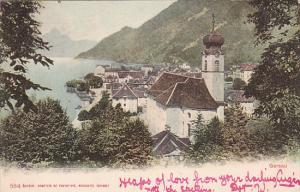 GERSAU (Schwyz), Switzerland, PU-1907; Partial Scene