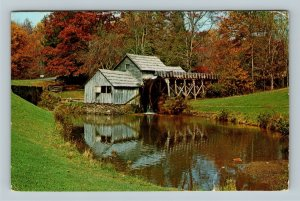 Blue Ridge Parkway VA, Mabry Mill, Chrome Virginia c1978 Postcard
