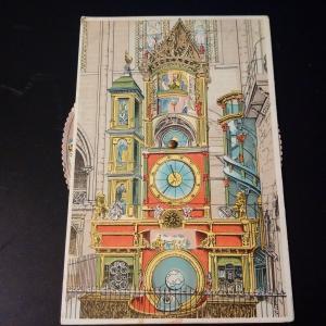 Strasbourg Astronomical Clock  - Mechanical Postcard
