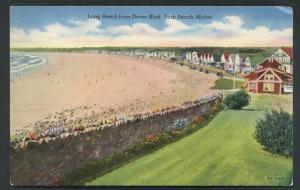 Maine Beach Long Dover Bluff York Vintage Postcard