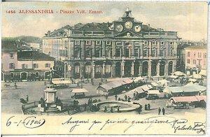 CARTOLINA d'Epoca - ALESSANDRIA Città - MERCATO 1904