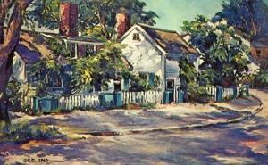 Sunlight and Shadow   Artist Signed: Roger Deering, New England Coast Art