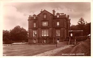 Scotland, UK Old Vintage Antique Post Card Balgray House Lockerbie 1936