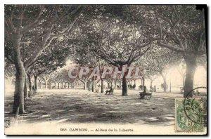 Postcard Old Cannes Allees de la Liberte