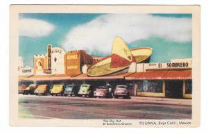 Tijuana Mexico Baja Ca The Big Hat El Sombrero Charro Vintage Postcard