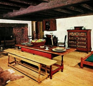 Winterthur Delaware DE Henry Francis Du Pont Museum 17th Century Room Postcard