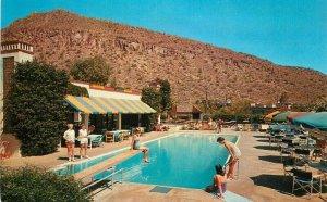 Phoenix Arizona Swimming Pool Paradise Inn Petley roadside Postcard 21-9546
