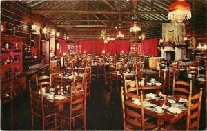 Hinsdale Illinois~Interior Spinning Wheel Restaurant~1954 Fred Harvey~Postcard
