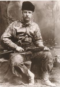 Teddy Roosevelt as Cowboy in Dakota Badlands Circa 1883 Western USA Recent Print