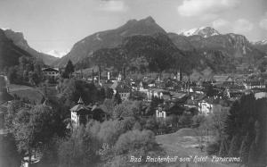 Bad Reichenhall Germany Panorama Of City Real Photo Antique Postcard K69480