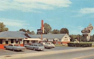 Joelton Tennessee~Cartel Motel & Restaurant~1960s Cars~Postcard