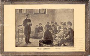 Burlington IA PM: Pastor w/White Collar Gives Sermon to Sunday School Boys