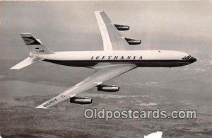 Lufthansa Boring jet Intercontinental Unused paper wear front bottom edge