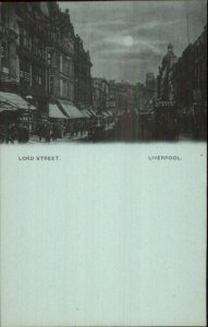Liverpool England Early 1890s Smaller Format Postcard LORD STREET