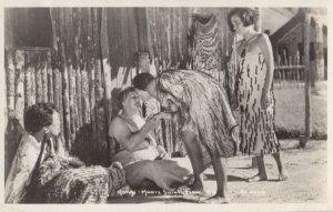 RP: Hongi - Maori Salutation , New Zealand , 1920-30s