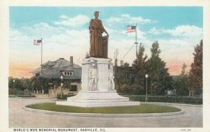 DANVILLE , Illinois, 1910-1920s ; World's War Memorial Monument