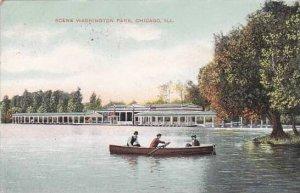 Illinois Chicago Scene Washington Park 1909