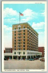 Port Arthur Texas~Vaughn Hotel~Stores on Ground Floor~1920s Postcard