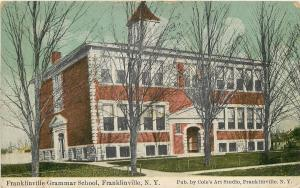 Franklinville NY~It's Winter @ Grammar School Cole's Art Studi 1912 Postcard