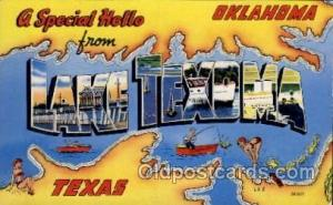 Lake Texoma, Texas Large Letter Town Towns Post Cards Postcards  Lake Texoma,...