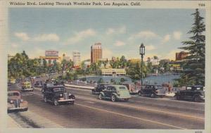 California Los Angeles Wilshire Boulevard Looking Thorugh Westlake Park 1949