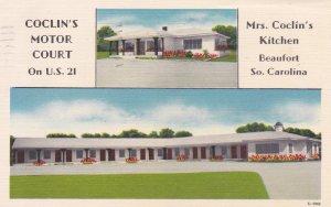 Coclin's Motor Court & Mrs Coclin's Kitchen, Beaufort, South Carolina, PU-1959
